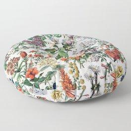 Adolphe Millot - Fleurs C - French vintage poster Floor Pillow
