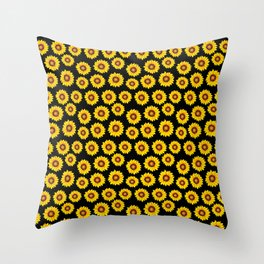 Sunflower Pattern Flower Lover Gardening Garden  Throw Pillow