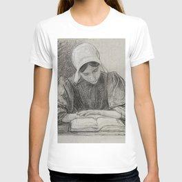 Lezend meisje met kap (ca 1874-1925) by Jan Veth T-shirt