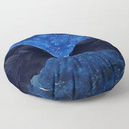 Moonlit Awakening Floor Pillow