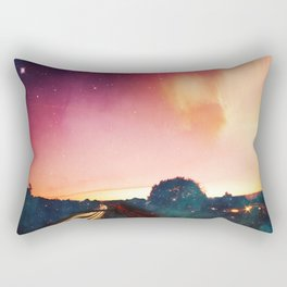 light speed - highway at sunrise Rectangular Pillow