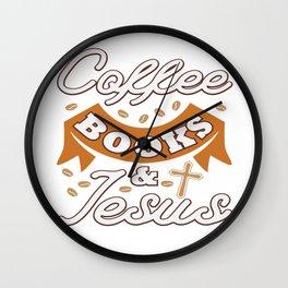 Jesus Christ Quote Coffee Book Religion Prist Gift Wall Clock