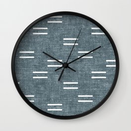 double dash on stone blue Wall Clock