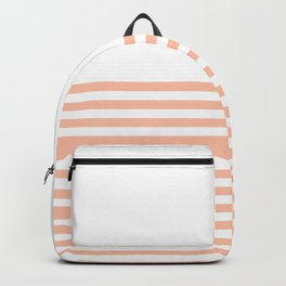 Peach Half Stripes Backpack