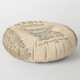 Shakespeare, Hamlet 1603 Floor Pillow