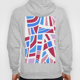Broken Pink And Blue Abstract Hoody
