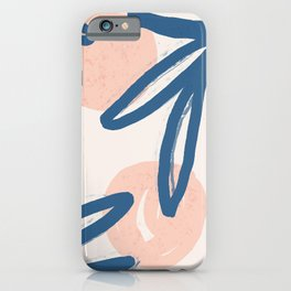Lovely abstract hand paint art with leaves on pastel background illustration pattern iPhone Case