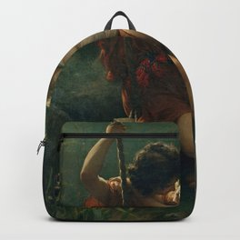 Springtime by Pierre-Auguste Cot 1873, French Backpack