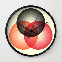 Three colour circles, inspired by Lacouture's Répertoire chromatique Wall Clock