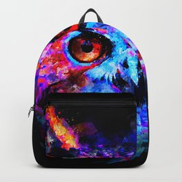 owl purple blue perfect Backpack