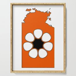 Northern Territory Australia Map with NT Flag Serving Tray