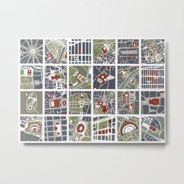Urban fragments I of NewYork, Paris, London, Berlin, Rome and Seville Metal Print