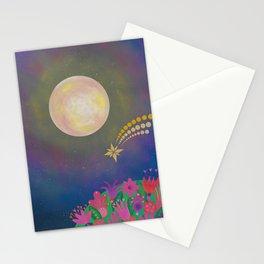 Full Moon - Scandinavian Folk Art Stationery Cards