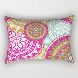 Mandala Bohemian Hippie Spiritual Zen Yoga Mantra Meditation Rectangular Pillow
