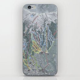 Breckenridge Resort Trail Map iPhone Skin