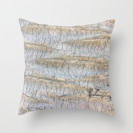 Sliced Bark Throw Pillow