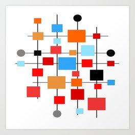 Mid-Century Modern Art 1.3.3 Art Print