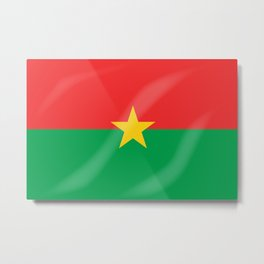 Burkina Faso Flag Metal Print