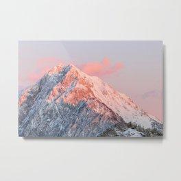 Last sun light on mountain Storžič, Slovenia Metal Print