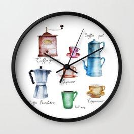 Coffee Time! Wall Clock