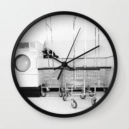 At the Laundromat Wall Clock