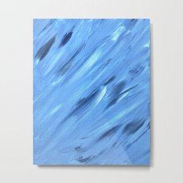 Blue Swoops Metal Print