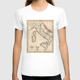 Vintage Map of Italy (1815) T-shirt