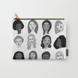 Women faces in black and white Carry-All Pouch