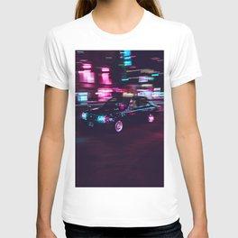 Japanese Taxi Long Exposure| Neon Cyberpunk Aesthetic T-shirt