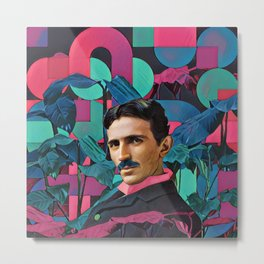 Nicola Tesla Metal Print