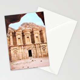 Monestary at Petra Stationery Cards