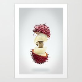 Flying Rambutan Art Print