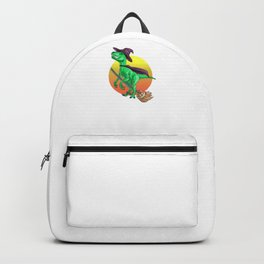 Witch Raptor, It's Show Time Funny Halloween Horror Scary Backpack