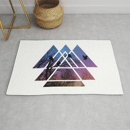Night Wisdom - Sacred Geometry Triangels Rug
