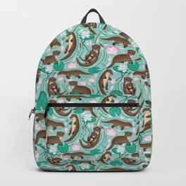 How We Love Each Otter - Mint Background Backpack