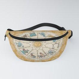 Vintage Astrology Zodiac Wheel Honey Fanny Pack