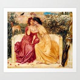 "Simeon Solomon ""Sappho and Erinna in a Garden at Mytilene"" Kunstdrucke"