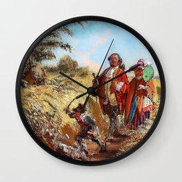 Lord And Consort - Carl Spitzweg Wall Clock