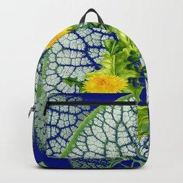ABSTRACT LEAF & DANDELIONS PATTERN ART Backpack