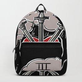 3 of Swords Black Tarot Backpack