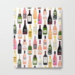 Wine & Champagne Bottles Metal Print