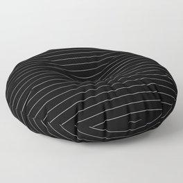 Black And White Pinstripe Line Stripe Minimalist Stripes Lines Floor Pillow