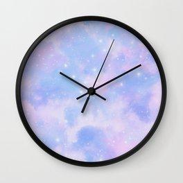 Pastel Cloulds Sky Seamless Nebula 189 Wall Clock