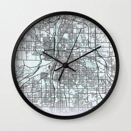 Grand Rapids, MI, USA, White, City, Map Wall Clock