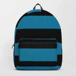 Primary Blue, Wishing Well Blue, Amazing Sky Blue, Blue to the Bone Hand Drawn Fat Horizontal Stripe Backpack