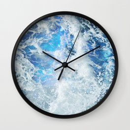 Blue Ocean Glow Wall Clock