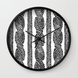 Cable Row Wall Clock