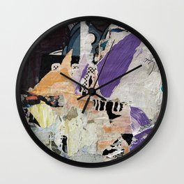 Berlin Posters-Violet2 Wall Clock