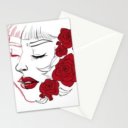 Roses painted red Stationery Cards