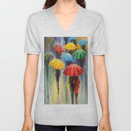Rain Unisex V-Neck